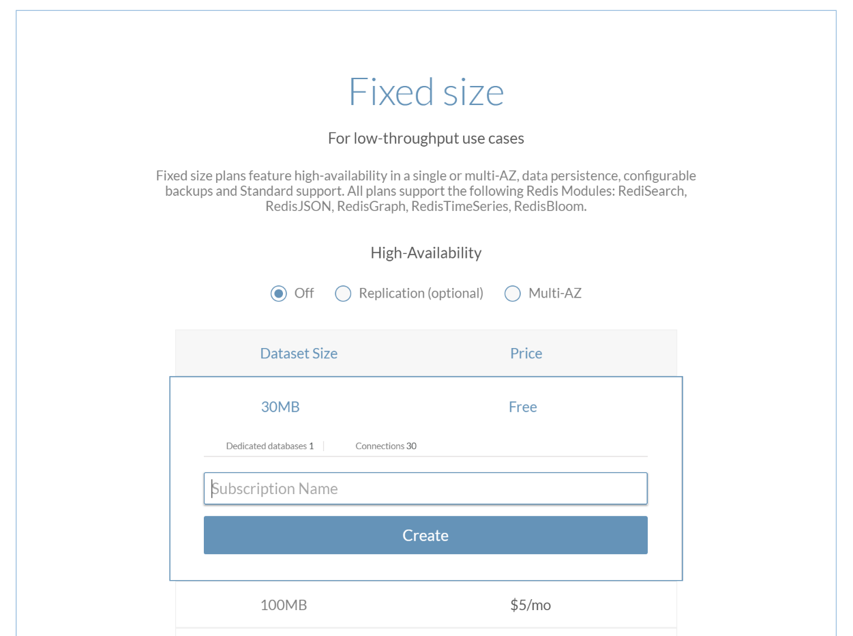 Create a free subscription.