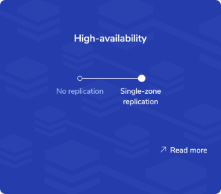 Use the High availability panel to set Fixed subscription replication settings.