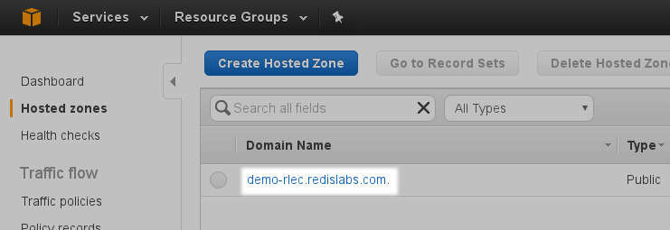 Configuring AWS Route53 | Redis Labs Documentation Center