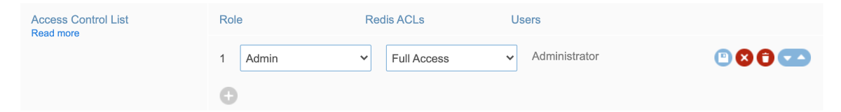 Updating a database access control list (ACL)